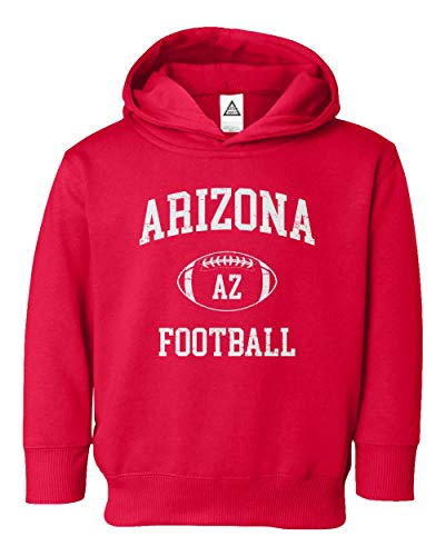 - Sheki Apparel Football Hometown Pride Cardinal Toddler Hooded Sweatshirt T-Shirt (Red, 2T)