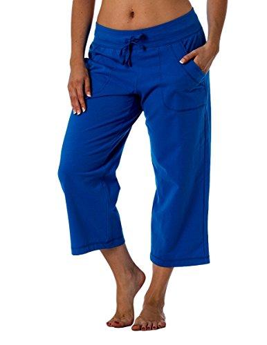 Danskin Now Women's Regular and Plus size Capri Blue 2XL (Danskin Capris)