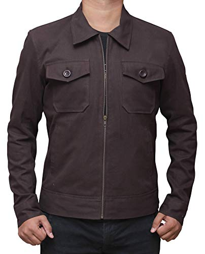 Mr Robot Brown Lightweight Jacket - Christian Slater Mens Cotton Summer Jacket | -