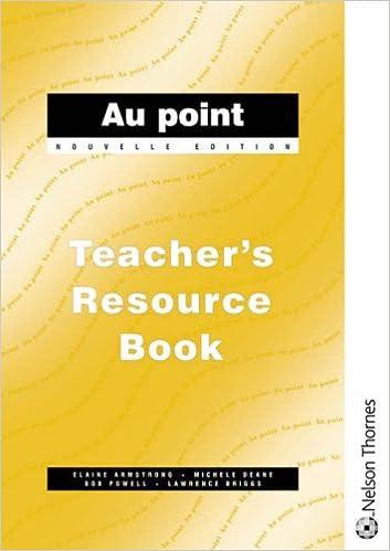 Lire Au Point: Teacher's Resource Book, Nouvelle Edition epub pdf