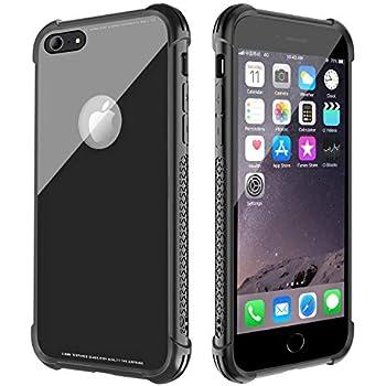 85803b591a0 YICF Funda para iPhone 6 y iPhone 6s, Carcasa Bumper, Shock-Absorción,  Anti-Arañazos, Negro