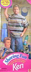"Barbie Shaving Fun Ken Doll W ""Magic"" Color Change Beard & Accessories (1994)"