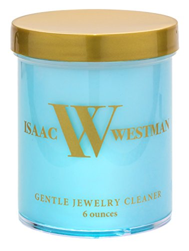 ISAAC WESTMAN Gentle Jewelry Cleaner Liquid | Safe Cleaning Solution For Fine & Fashion Jewelry | 6oz | Dip Tray & Brush by ISAAC WESTMAN
