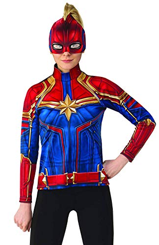 Rubie's Women's Captain Marvel Hero Top and Headpiece, as as Shown, Small ()