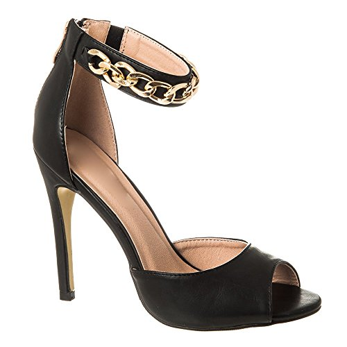 Tacón Negro Zapatos Diva Mujer Miss Con pq7wUZ