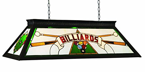 RAM Gameroom Products 44-Inch Billiard Table Light with KD Frame, Green, ()