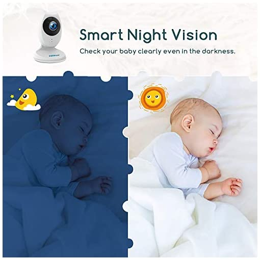 Campark Baby Monitor 4.3 inch Split Screen Video Baby Monitor with Camera and Audio, Smart Night Vision, Room… Amazon choices [tag]