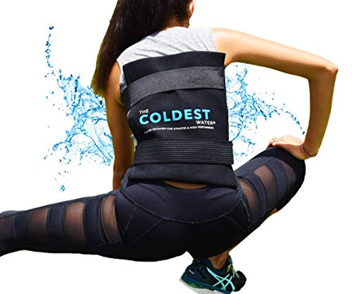 The Coldest Ice Pack Large Flexible Gel Ice Pack and Wrap with Elastic Straps Specific for Cold Therapy - Ice Pack for Back Leg Sprains, Muscle Pain, Bruises, Injuries - 11