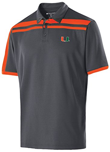 NCAA Miami Hurricanes Adult Men Charge PoloX-Large