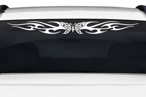 esign #116-01 Butterfly Tribal Flame Windshield Decal Sticker Vinyl Graphic Back Rear Window Banner Tailgate Car Truck SUV Van Boat Trailer Wall | 36