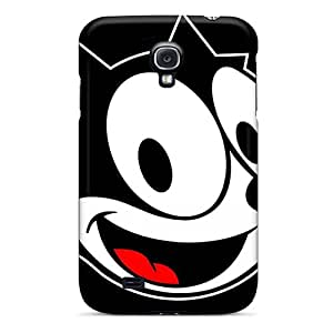 AngelineMS Scratch-free Phone Case For Galaxy S4- Retail Packaging - Felix The Cat Cartoon