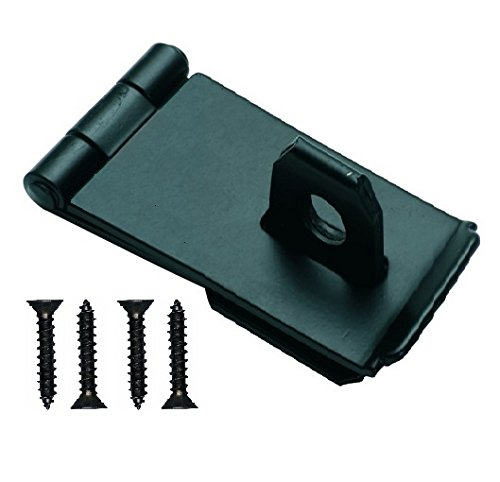 Bulk Hardware BH04256 75mm 3 inch Black Safety Hasp and Staple