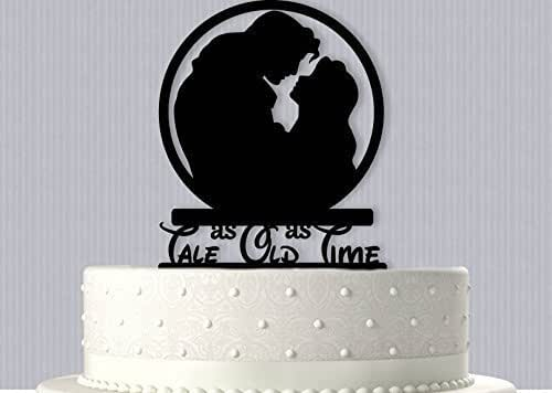 Belle And Prince Adam Wedding Cake Topper