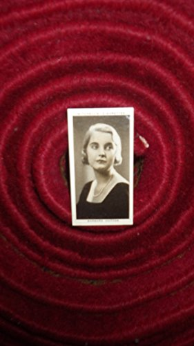 (Heiress Barbara Hutton, Cigarette Card Original Vintage 1936,  It is card #48 from a set of 50 cards entitled