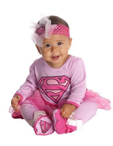 Pink Supergirl Infant Halloween Costume (Supergirl Baby Costume -)
