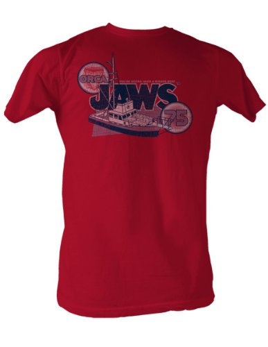 Jaws - Orca 75 Mens T-Shirt In Red, Size: XX-Large, Color: Red