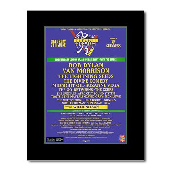 FLEADH - 1997 - Bob Dylan Van Morrison Mini Poster for sale  Delivered anywhere in Canada