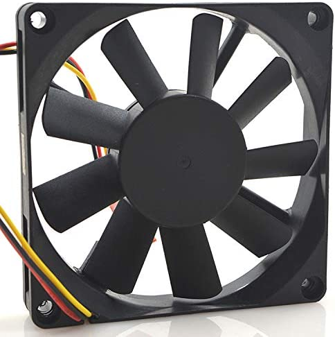 for Bi-Sonic SP801512HM DC12V 0.45A 3-Wire 8CM Ultra-Thin Chassis Fan