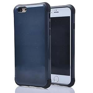 "(Case for Iphone 6 Plus/5.5 inch) Bon Venu Slim Cool Armor Hybrid PC+TPU Anti Knock Shock Proof Impact heavy duty hard case For Apple iphone 6 plus 5.5"""" case+Screen Protector (Blue 2)"
