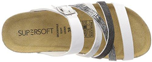193 244 Femme 274 Pantoufles Multi Blanc White Supersoft 50qR1AxnA