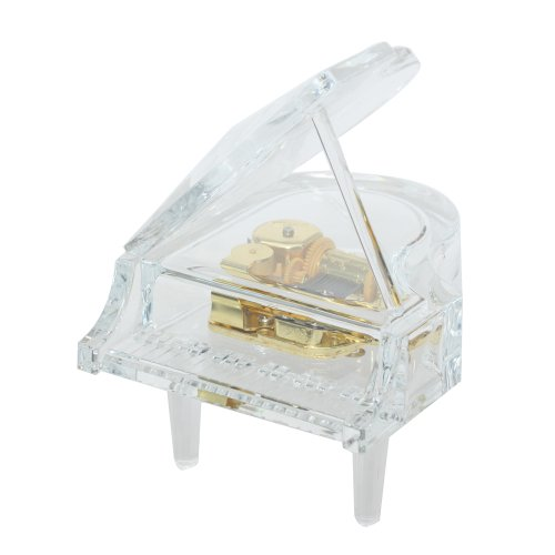 Laxury 18 Note Wind-up Music Box Musical Piano Play Carrying You of Castle in the Sky Anime (10*12*14CM) (Fool In The Rain Piano Sheet Music)