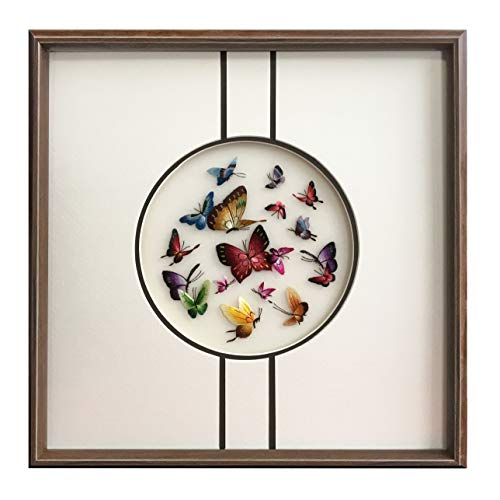 Wall Art Picture Frames Gifts Handmade Embroidery beautiful Butterfly ()