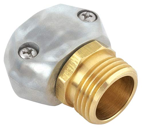 "Gilmour 100049168 Metal Heavy Duty Zinc and Brass Male Clamp Coupling, 5/8"" x 3/4"""