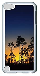 iPod Touch 5 Cases & Covers - Sunset And Trees PC Custom Soft Case Cover Protector for iPod Touch 5 - White