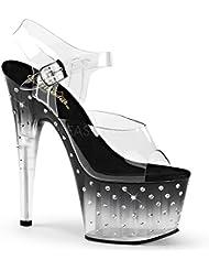 Pleaser STARDUST-708T Exotic Dancing Clubwear 7 Sexy Ankle Strap Platform Sandal.
