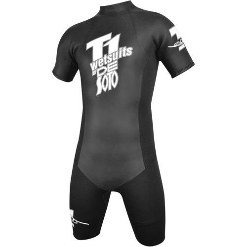 Desoto Wetsuit - De Soto T1 Espresso Triathlon Shorty Wetsuit, Mens