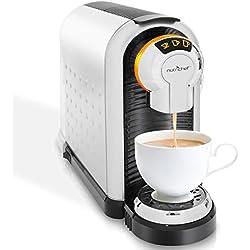 Automatic Coffee Pod Espresso Machine - Electric Capsule Pods Pro Auto Home Brewer Maker w/Brew Cup Sizes, 27oz Water Tank, Quick Heating, Compatible w/Nespresso Capsules - NutriChef PKNESPRESO60