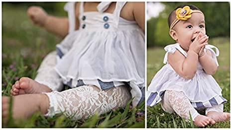 a20577086790f Amazon.com: Baby and Toddler Girl-Lace Leggings Tights -Capris-Satin Bows -  Soft Non-Scratch: Clothing