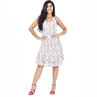 LADIES SLEEVE LESS MINI DRESS