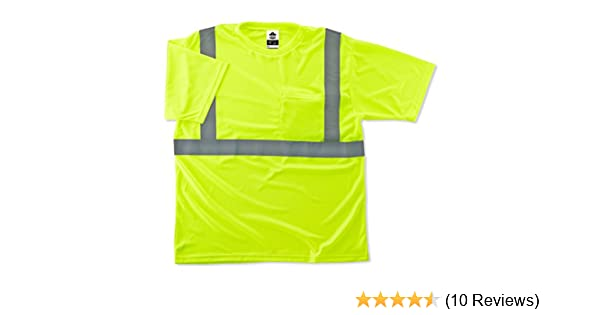 2XL GloWear 8289 ANSI High Visibility Lime Reflective T-Shirt