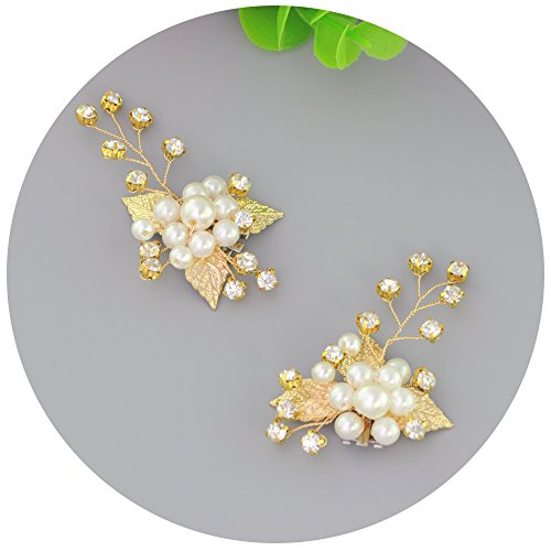 ULAPAN Women Sunshine Design Wedding Party Prom Decoration Crystals Clutch Dress Hat Shoe Clips 2 Pcs from ULAPAN