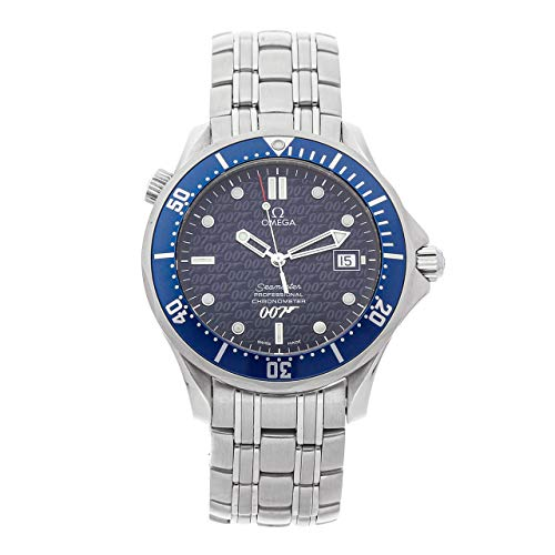 Omega Seamaster Mechanical (Automatic) Blue Dial Mens Watch 2537.80.00 (Certified Pre-Owned) (Best Of Bond James Bond 40th Anniversary Edition)