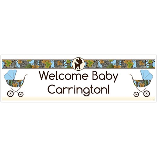 Blue Camo Baby Shower 5 Ft. Large Personalized Banner