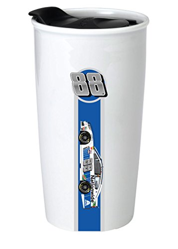 - NASCAR #88 Dale Jr Double Wall Ceramic Tumbler-NASCAR Travel Mug