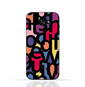 Samsung Galaxy A5 TPU Silicone Case with Abstract Font Seamless Pattern