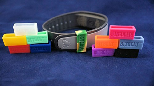 Of The Magic Watch Color (Bitbelt 12 Pack (one of Every Color, 3 That Glow in The Dark!) Protect Your Magicband (Includes 2.0),Fitbit Charge, Fitbit Charge HR, Garmin Vivofit.)