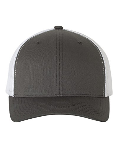 Yupoong Retro Trucker Hat & 2-Tone Snapback - 6606, by Flexfit (One Size, Charcoal/White)