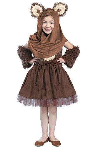 [Princess Paradise Girls Classic Star Wars Premium Wicket Dress, Brown, Small] (Ewok Star Wars Costume)