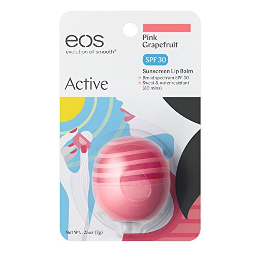 EOS Active Protection Lip Balm SPF 30 Pink Grapefruit - Pack of 4 by EOS