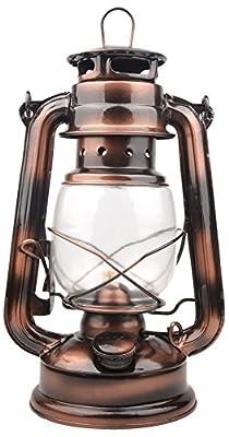 Farmer's Vintage Barn Oil Lantern Iron Kerosene Lamp Home Decoration Emergency Light (Copper Color)
