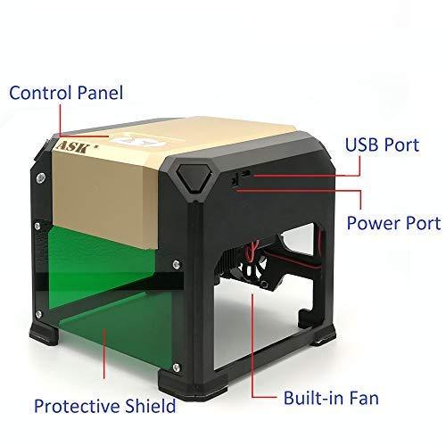Mini Laser Engraving Machine,3000mw CNC Laser Printer Engraver,DIY ...
