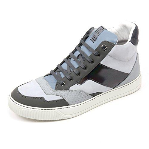 Uomo Azzurro Man Lanvin Scarpa Alta Mid Top Sneaker grigio Glol C2850 Shoe 1AwUqR