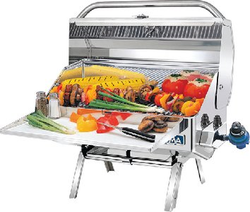 Magma Products, A10-918-2 Newport 2 Gourmet Series Gas Grill, Polished Stainless Steel ()