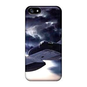 Mialisabblake Perfect Tpu Case For Iphone 5/5s/ Anti-scratch Protector Case (airplane Above The Clouds)