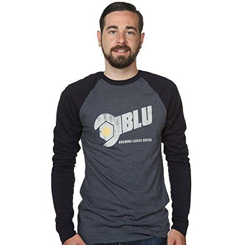 JINX Team Fortress 2 Men's Blu Team Raglan Cotton Shirt (Blue, Small)