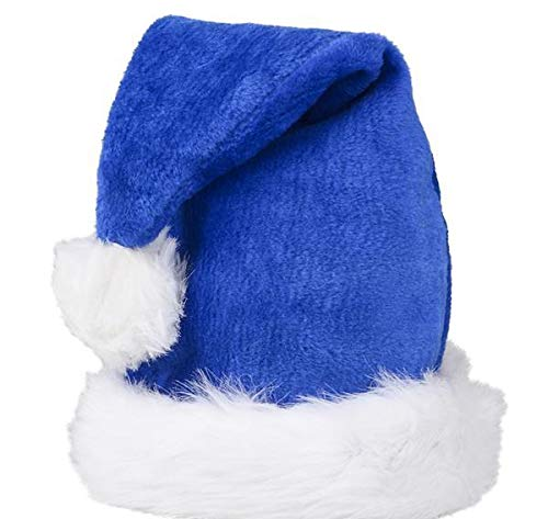 DollarItemDirect Blue Plush Santa HAT, Case of 24